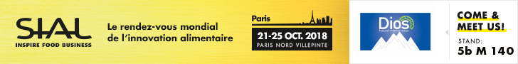 """Extroversion and Internationalization for DIOS in """"SIAL PARIS 2018"""""""